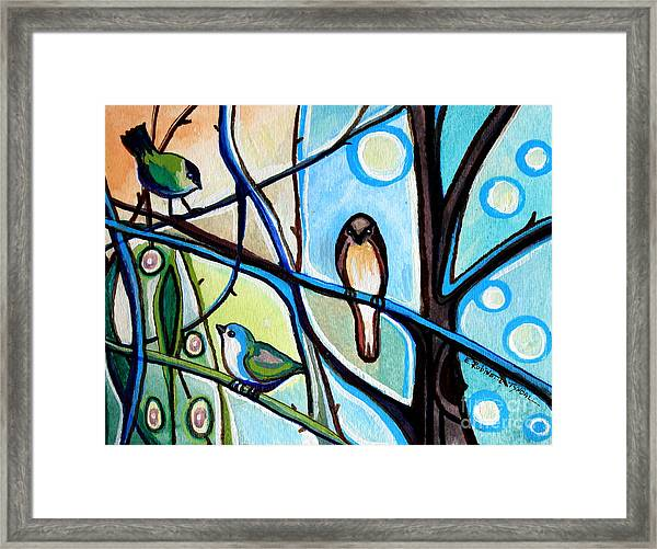 Three Birds Framed Print