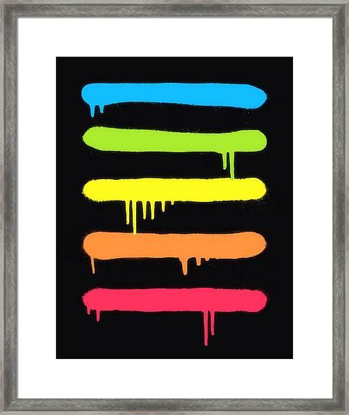 Trendy Cool Graffiti Tag Lines Framed Print