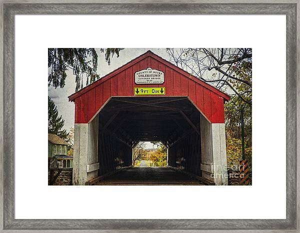 Uhlerstown Covered Bridge Iv Framed Print