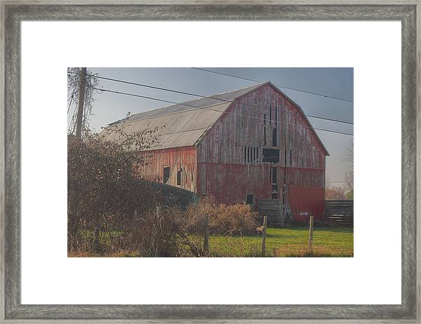 0153 - Dodge Road Red I Framed Print