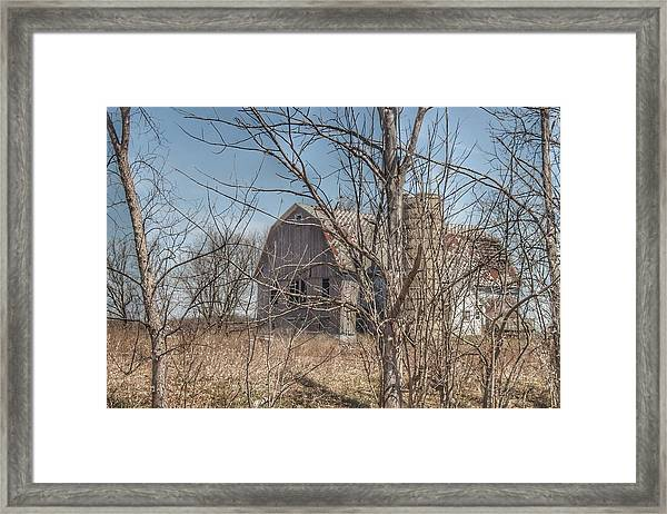 0162 - Hill Road Grey I Framed Print