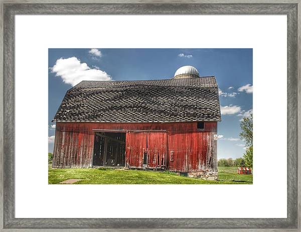 0181 Hollenbeck Road Red II Framed Print