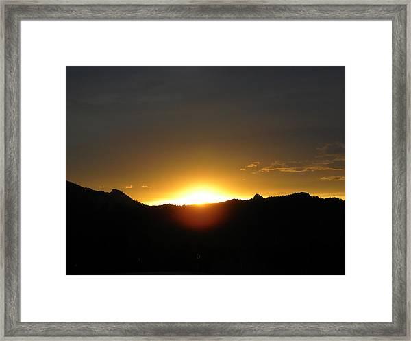 Sunrise West Side Of Rmnp Co Framed Print
