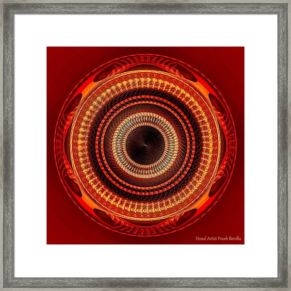 Framed Print featuring the digital art #091520152 Orange Version by Visual Artist Frank Bonilla