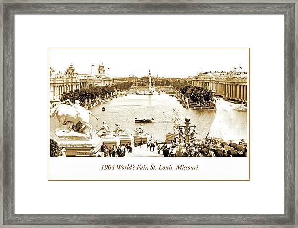 1904 World's Fair, Grand Basin View From Festival Hall Framed Print