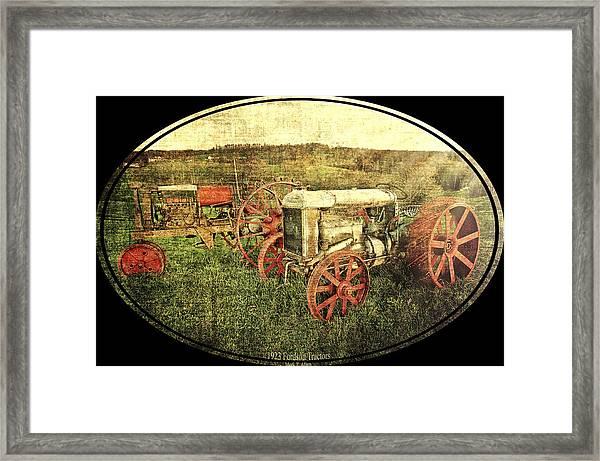 Vintage 1923 Fordson Tractors Framed Print