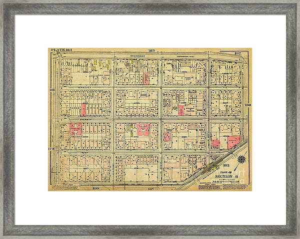 1927 Inwood Map  Framed Print