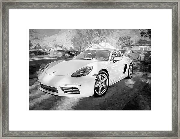 2017 Porsche Cayman 718 S  Bw    Framed Print