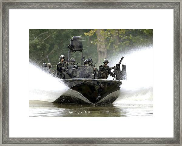 A Special Operations Craft Riverine Framed Print