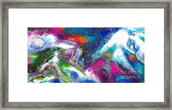 Abstract 10115a Framed Print