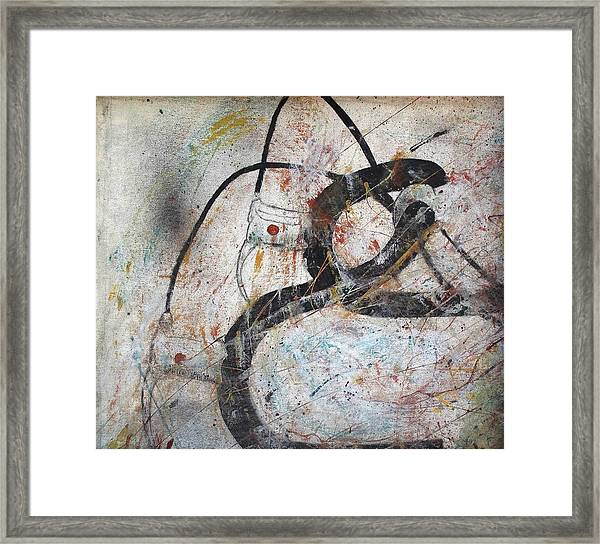 Abstract Bike Framed Print by Thomas Armstrong