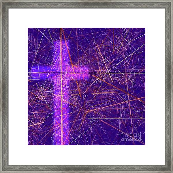 Abstract Easter Theme Framed Print