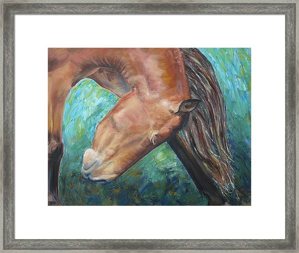Abstract Horse One Framed Print