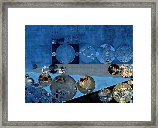 Abstract Painting - Bermuda Grey Framed Print
