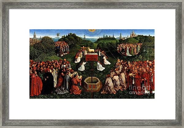 Adoration Of The Mystic Lamb Framed Print