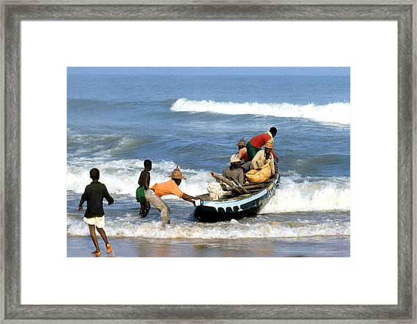 African Fishermen 1971 Framed Print by Erik Falkensteen