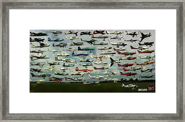 Airventure Cup Air Race, 2017 - Panorama Framed Print