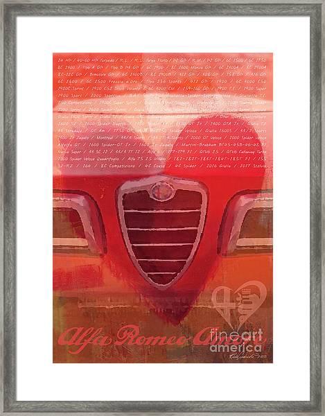 Alfa Romeo Valentine Framed Print