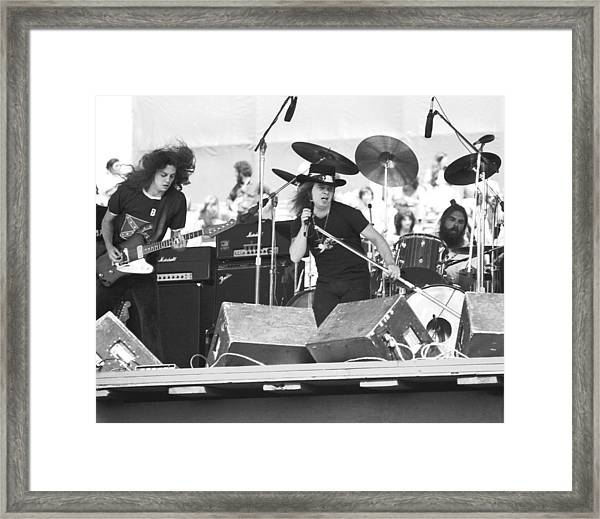 Allen And Ronnie And Artimus Framed Print