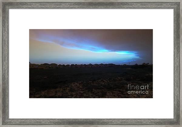 Alternate Sunset Blue Framed Print