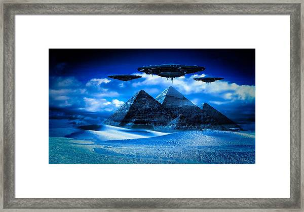 Ancient Aliens By Raphael Terra Framed Print