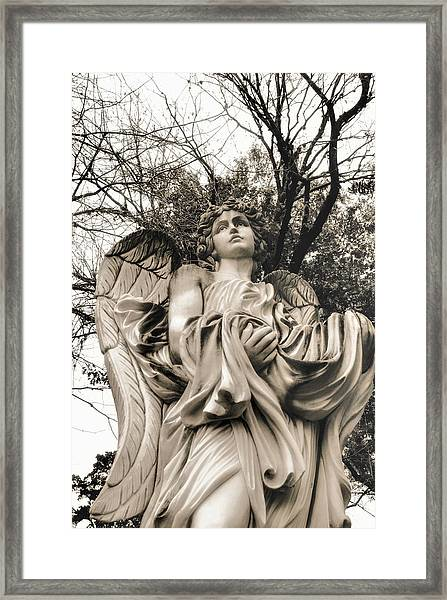 Angel In The Fall Framed Print
