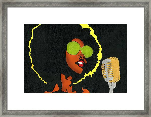 Angela Sings Framed Print