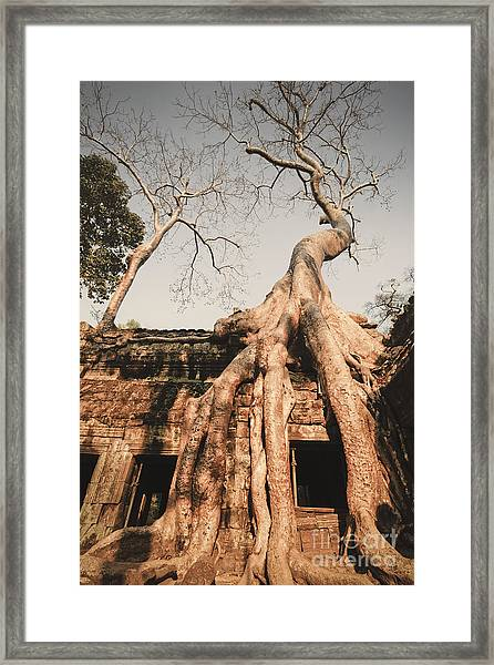 Framed Print featuring the photograph Angkor Wat by Juergen Held