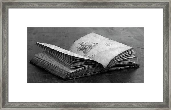 Antique Notebook Framed Print