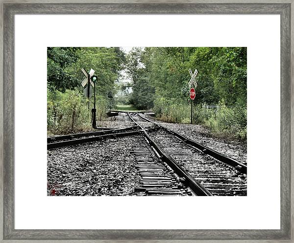 Antique Railroad Track Framed Print