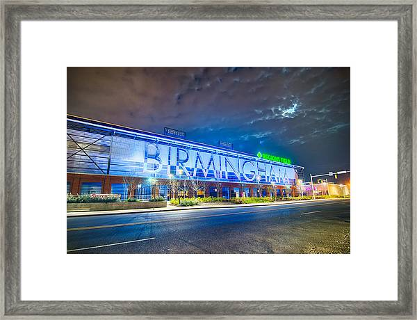 April 2015 - Birmingham Alabama Regions Field Minor League Baseb Framed Print