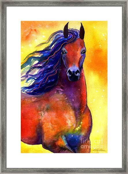 Arabian Horse 1 Painting Framed Print
