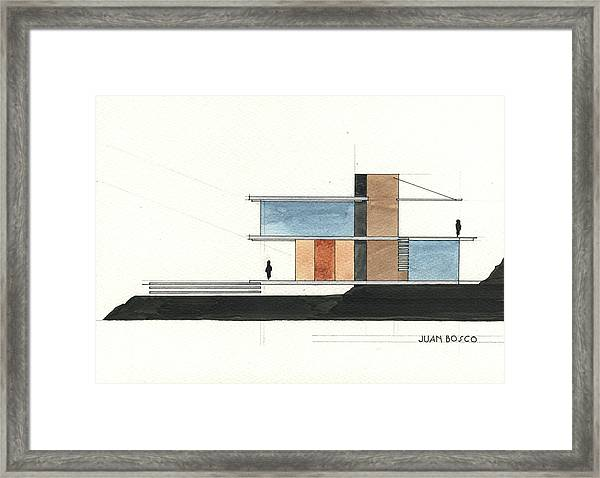 Architectural Drawing Framed Print