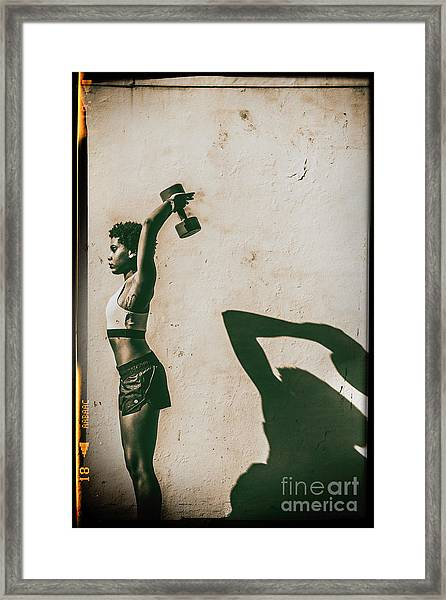 Athletic Woman Framed Print