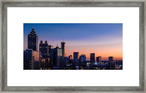 Atlanta Sunset Framed Print
