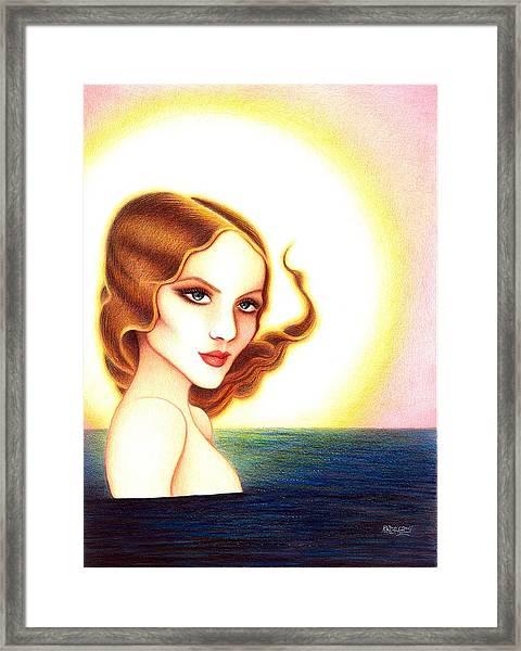 August Honey Framed Print