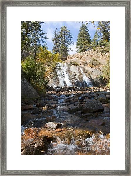 Autumn At Helen Hunt Falls Colorado Framed Print