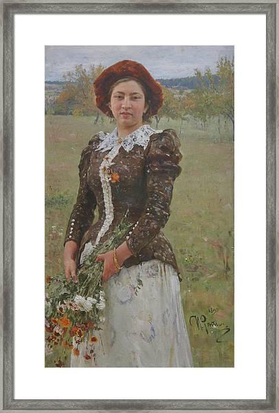 Autumn Bouquet Framed Print by Ilya Repin