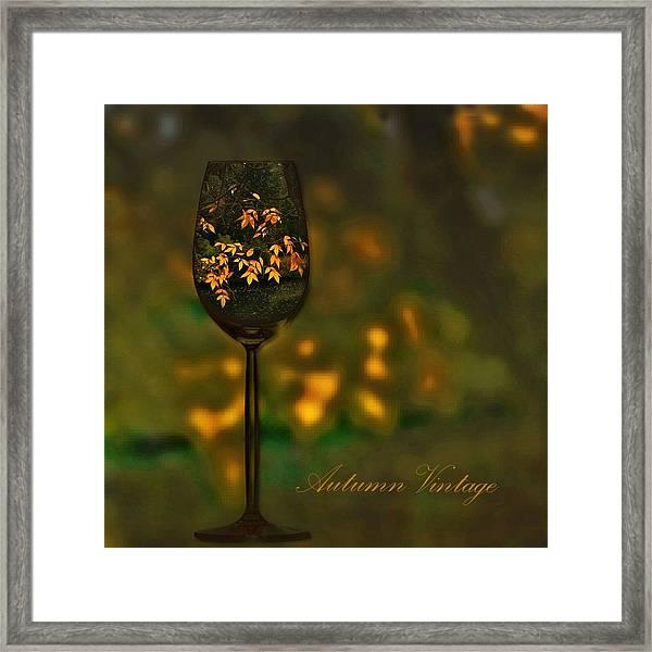 Autumn Vintage Framed Print