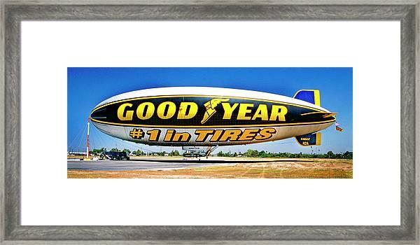 My Goodyear Blimp Ride Framed Print