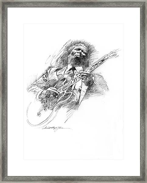 B B King And Lucille Framed Print