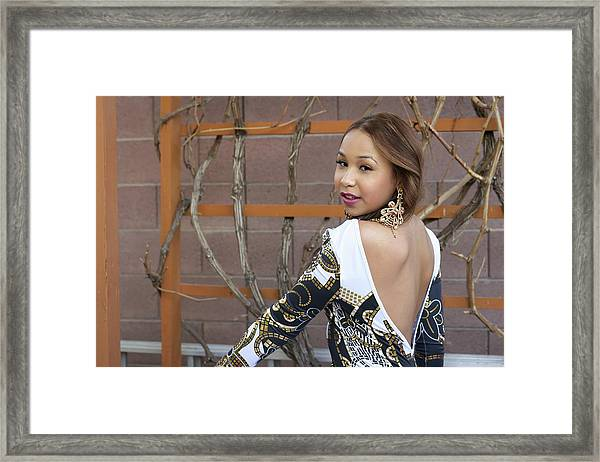 Baby Back Cathy Framed Print