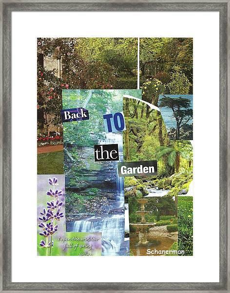 Back To The Garden Framed Print