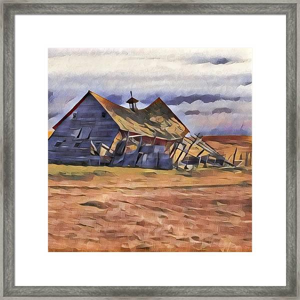 Barn Down Framed Print