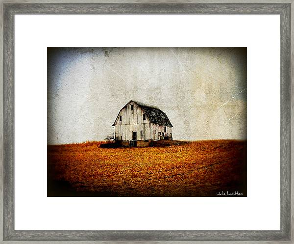 Barn On The Hill Framed Print