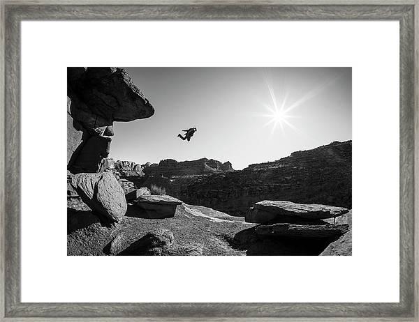 Base Jumper Framed Print