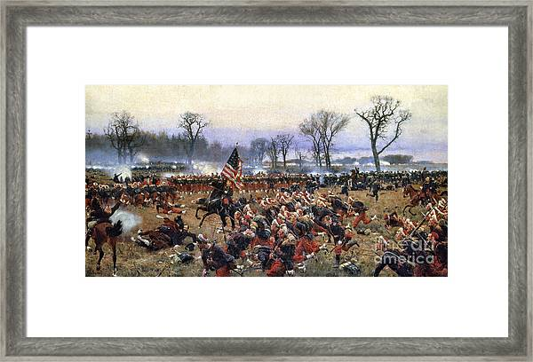 Battle Of Fredericksburg - To License For Professional Use Visit Granger.com Framed Print