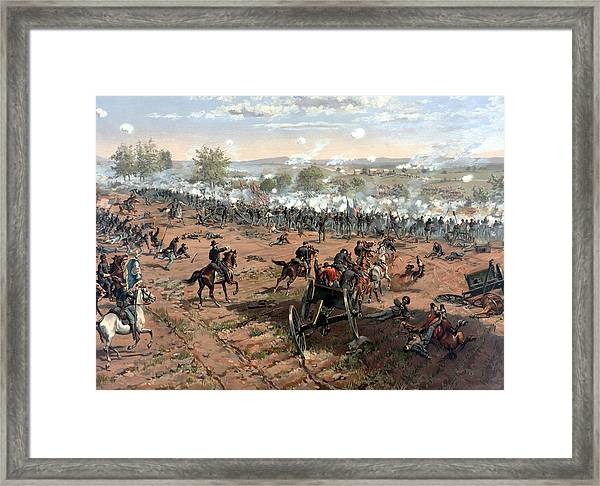 Battle Of Gettysburg Framed Print