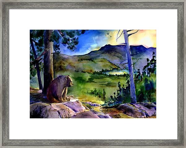 Bearly Light At Castle Peak Framed Print