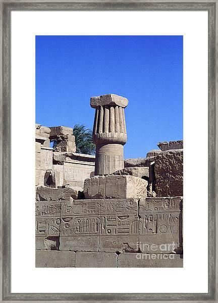 Belief In The Hereafter - Luxor Karnak Temple Framed Print